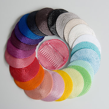 Round Poly Straw Fascinator Cocktail Hat Base