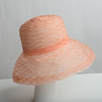 Peach Delicate Weave Crinoline Medium Brim Horsehair Hat Base