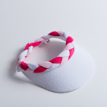 Braided Terry Cloth Sun Visors