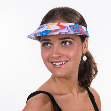 Hawaiian Printed Push In Visors