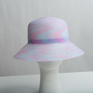 Blue / Pink Crinoline Medium Brim Horsehair Hat Base