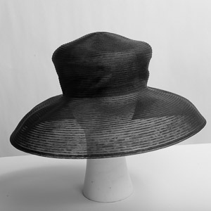 Black Crinoline Wide Brim Horsehair Hat Base