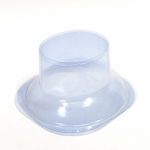 Clear Plastic Hat Holder Square Dome Stand Rack