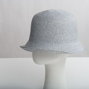 Cloche Small Brim Blocked Untrimmed Metallic Hat Base