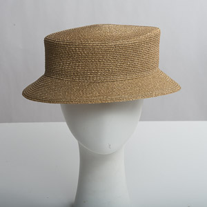 Small Brim Blocked Untrimmed Metallic Hat Base