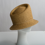 Asymmetric Small Brim Blocked Untrimmed Metallic Hat Base