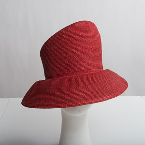 Medium Brim Blocked Untrimmed Metallic Hat Base