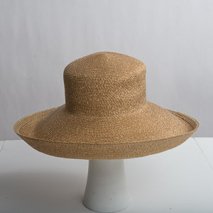 Wide Brim Blocked Untrimmed Metallic Hat Base