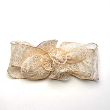 Ivory 7.5 Inch Sinamay Bow Trims